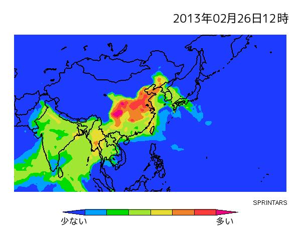 大気汚染粒子予測